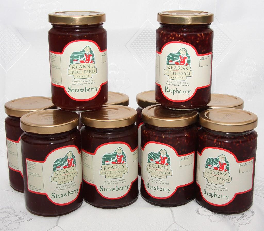 Kearns Fruit Farm raspberry & strawberry jam